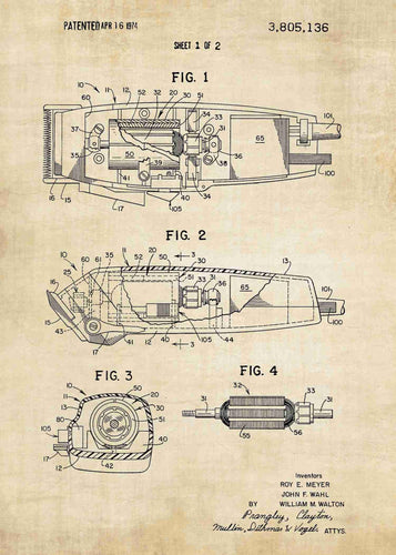 barbers hair clipper patent print, barbers poster a great addition to barber shop decor in the style vintage