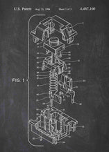 cherry mx mechanical keyboard patent print, cherry mx pc gaming poster shown in the style chalkboard
