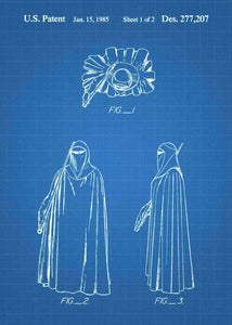 Emperor's Royal Guard patent print, Emperor's Royal Guard star wars poster in the style blueprint