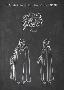 Emperor's Royal Guard patent print, Emperor's Royal Guard star wars poster in the style chalkboard