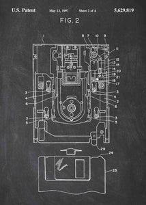 floppy disk drive patent print, floppy disk poster in the style chalkboard