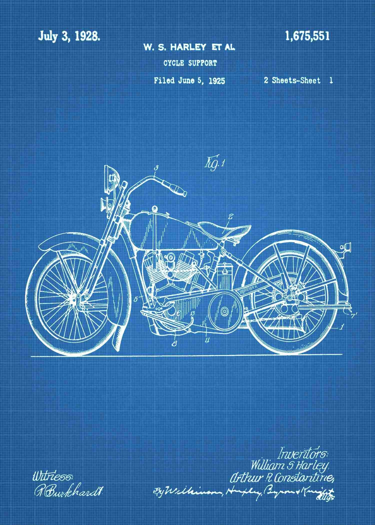 Harley Motorcycle Patent Patent Print Wiring Capacitors In Series