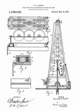 howard hughes oil drilling rig patent print, oil rig poster shown in the style white