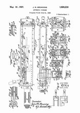 M2 Browning machine gun patent print, M2 Browning machine gun  poste rin the style white