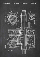 rotary engine patent print, rotary engine poster in the style chalkboard