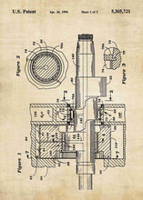 rotary engine patent print, rotary engine poster in the style vintage