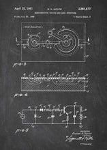 semiconductor patent print, semiconductor poster in the style chalkboard