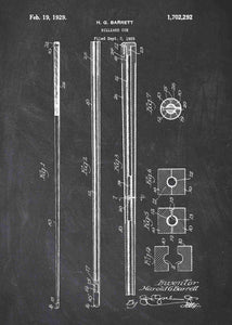 snooker / billiards cue patent print, snooker poster shown in the style chalkboard