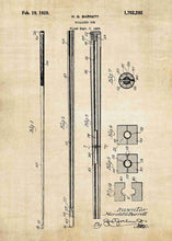 snooker / billiards cue patent print, snooker poster shown in the style vintage