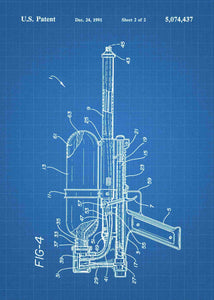 super soaker patent print, super soaker poster in the style blueprint