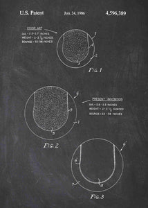 tennis ball patent print, tennis poster shown in the style chalkboard