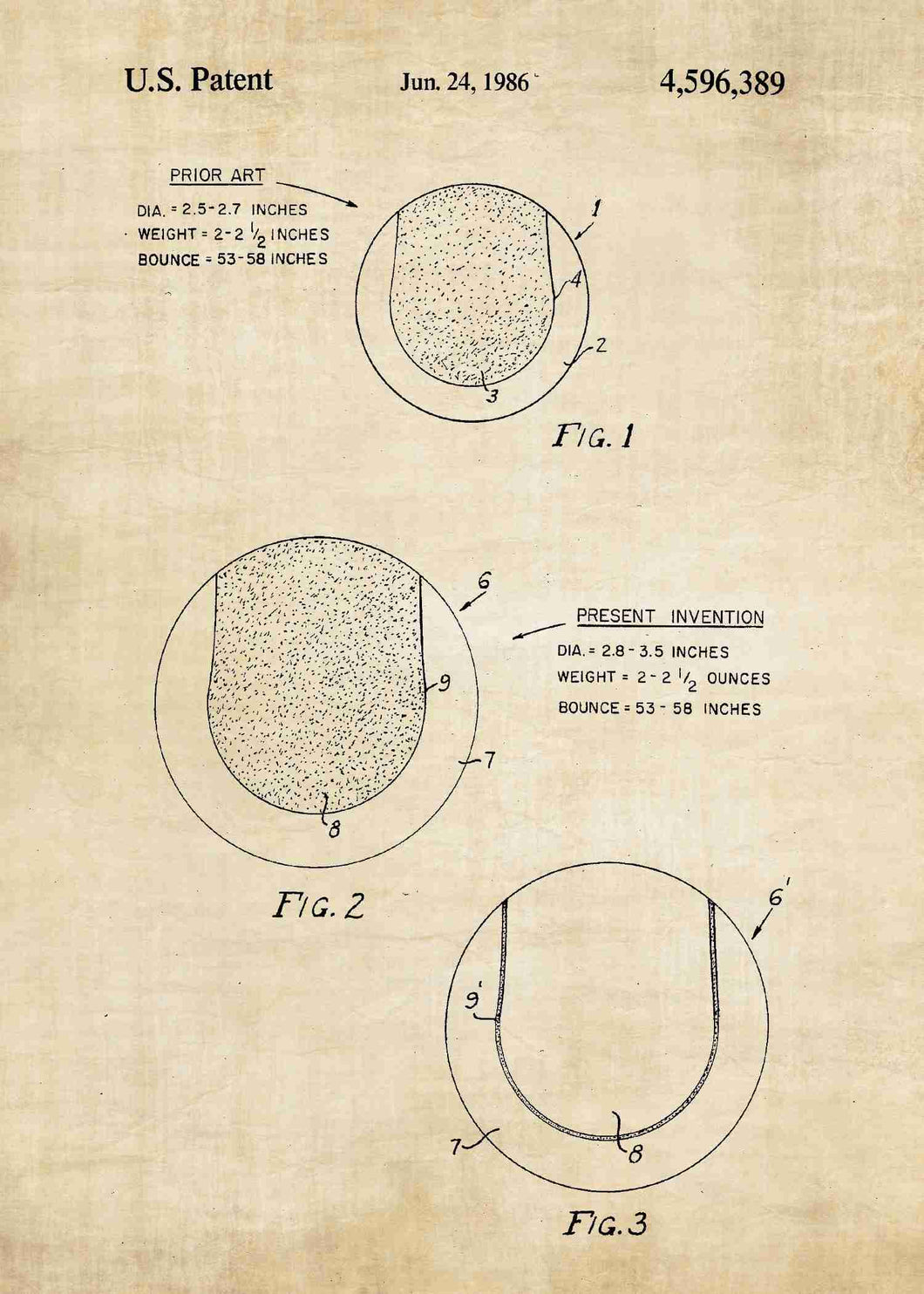 tennis ball patent print, tennis poster shown in the style vintage
