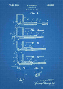 tobacco pipe patent print, pipe poster in the style blueprint