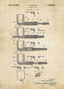 tobacco pipe patent print, pipe poster in the style vintage