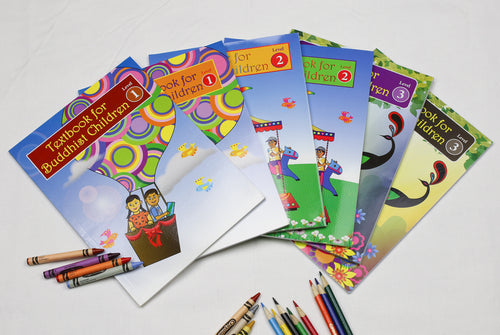 Text Books for Buddhist Children with Companion Exercise Books