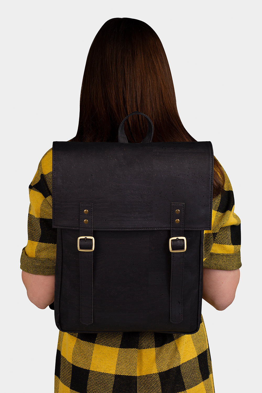 The Everyday Vegan Leather Black Backpack