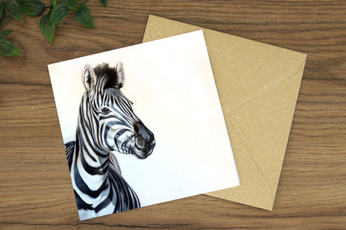 Zebra Greetings Card