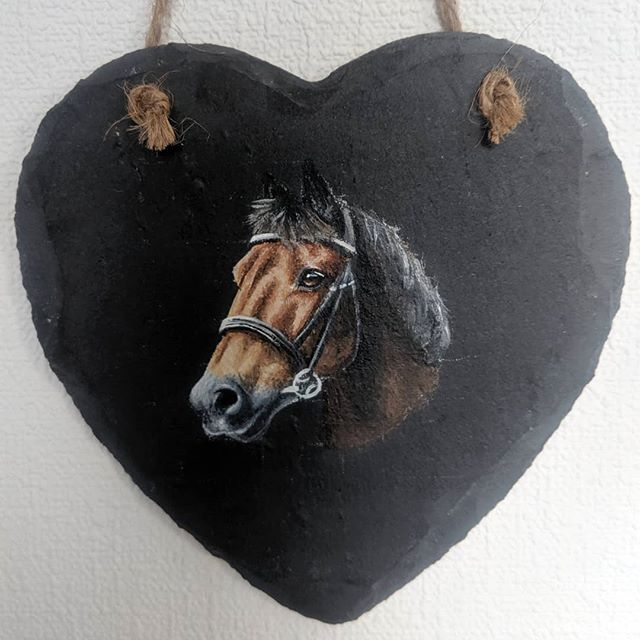 Slate Heart with Original Artwork