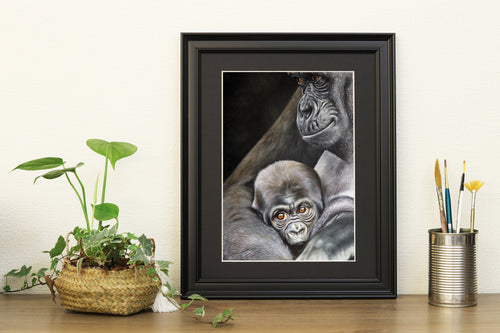 Gorilla and Baby Prints