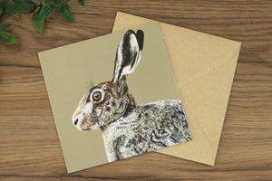Hare Greetings Card