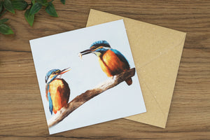 Kingfishers Greetings Card