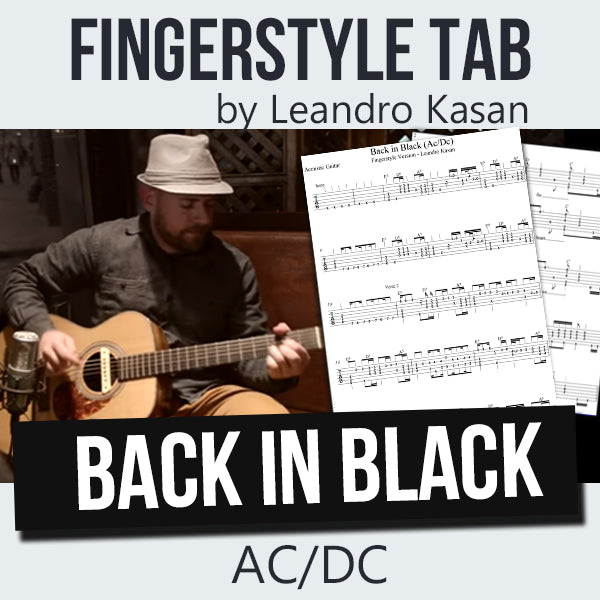 Back in Black (AC/DC) - Full Fingerstyle Tablature