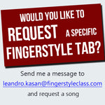 Request a Fingerstyle Tablature