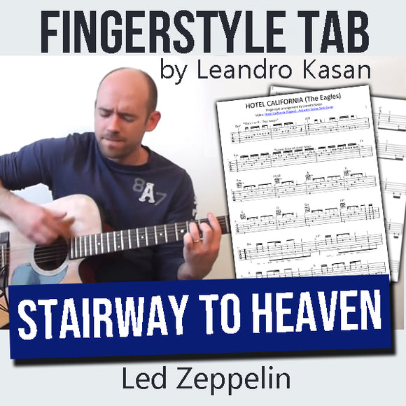 Stairway to Heaven (Led Zeppelin) - Full Fingerstyle Tablature by Leandro Kasan