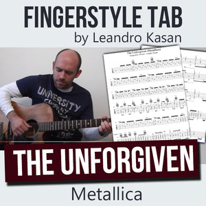 The Unforgiven (Metallica) - Full Fingerstyle Tablature