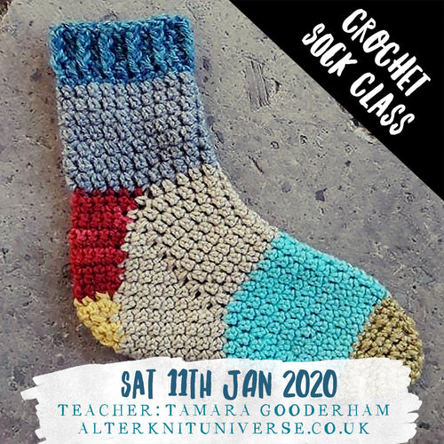 Intro to Crochet Socks for Confident Beginners- class :: Jan 11th 2020