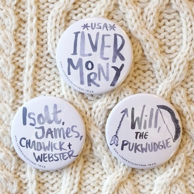 """Founders of Ilvermorny"" Big Pin Badges"