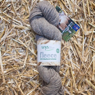 """Light Brown"" 100% BFL Aran"