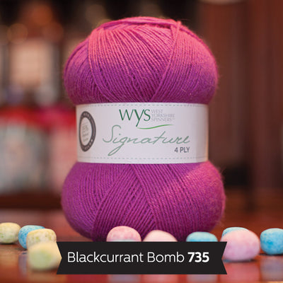 """Blackcurrant Bomb"" Signature 4ply"
