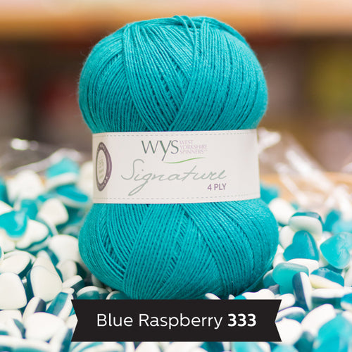 """Blue Raspberry"" Signature 4ply"