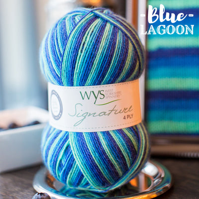 """Blue Lagoon"" Signature 4ply"