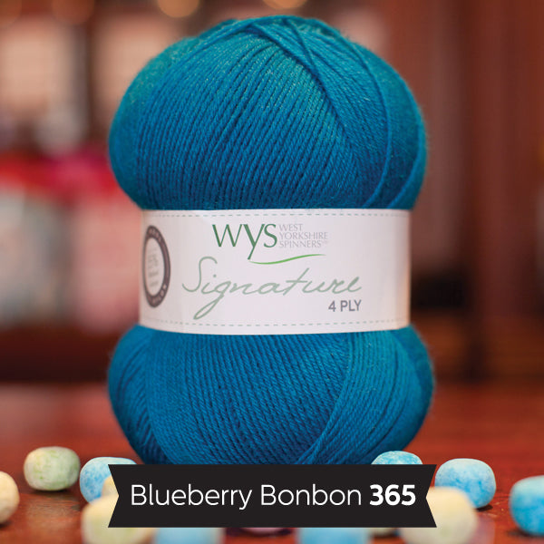 """Blueberry Bonbon"" Signature 4ply"