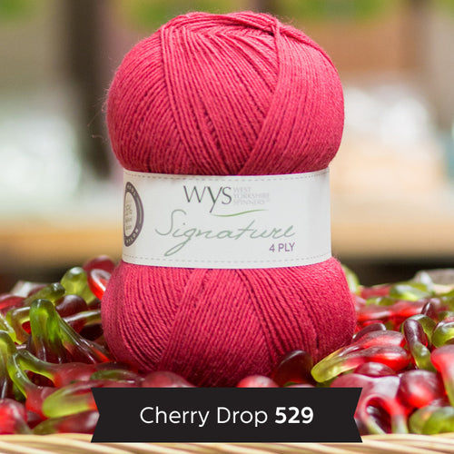 """Cherry Drop"" Signature 4ply"