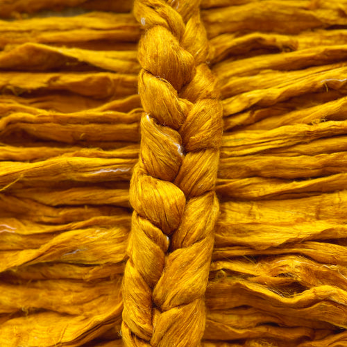 """Goldrush"" Sari Silk Recycled blended braid"