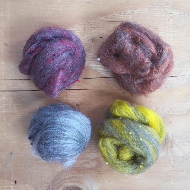 AUTUMN SUNSET Tweed Carded nests 50g