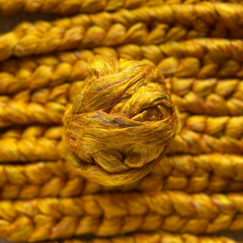 """Honeycomb"" Sari Silk Recycled blended braid"