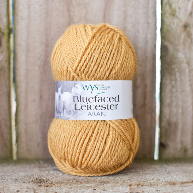 """Honey"" 100% BFL Aran"