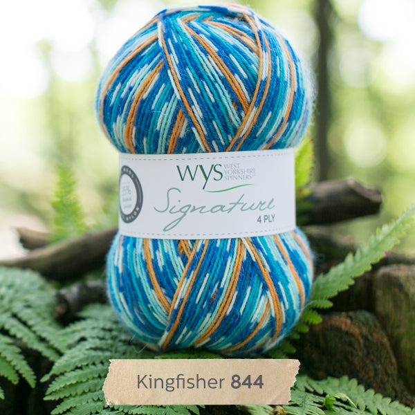"""Kingfisher"" Signature 4ply"