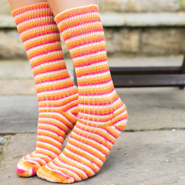 Real Wool Socks- Size S, M, L - Tequila Sunrise