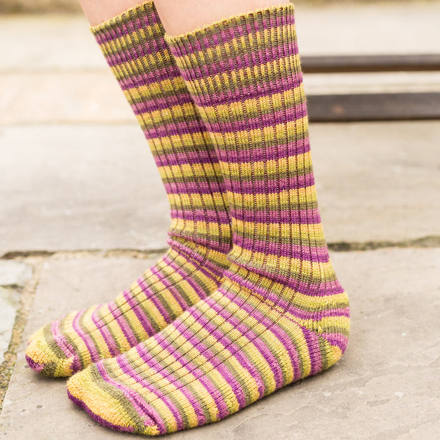 Real Wool Socks- Size S, M, L - Passionfruit Cooler