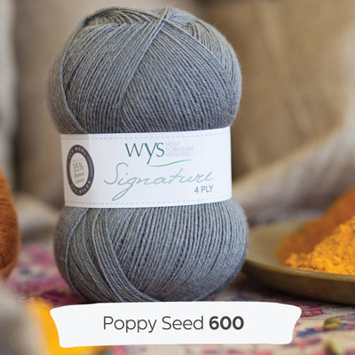 """Poppy Seed"" Signature 4ply"