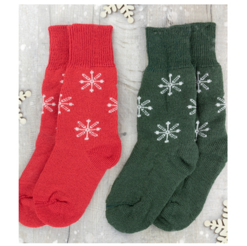Real Wool Socks- Snowflake