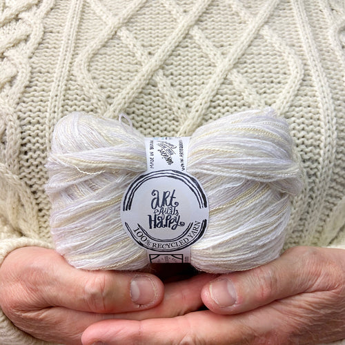 """White Unicorn"" Super Chunky Recycled Yarn"