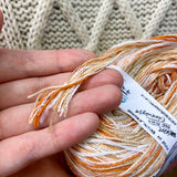 """Orange Unicorn"" Super Chunky Recycled Yarn"