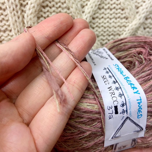 """Strawberry Tweed"" DK Recycled Yarn"