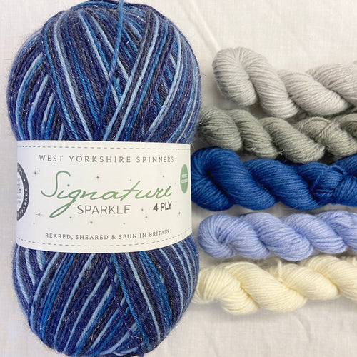 """Silent Night"" Xmas 2020- Sparkle Signature 4ply"